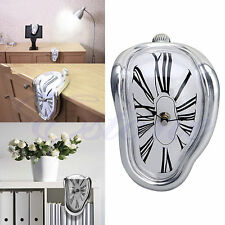 Hot Wall Clock Novelty Salvador Style Hanging Clock Surrealist Irregular Melting