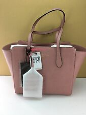 GUCCI New Swing Mini Light Pink Small Tote Shoulder Bag With Removable ID Tag