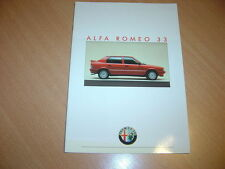 CATALOGUE Alfa Romeo 33 de 1988