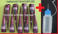 12 Natural Herbal Henna Cones W APPLICATOR Temporary Tattoo kit Body Mehndi ink
