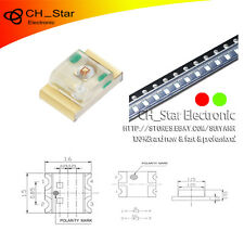 100PCS 0805(2012)SMD SMT Two-color Bi-Color Red&Green Light LED Diodes