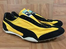 Vintage�� Puma EYE Made In West Germany Trainer Racer Black Gold 11.5 Yugoslavia