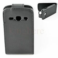 Flip Leather Hard  Black Shell Pouch Case Cover For Samsung Galaxy Fame S6810