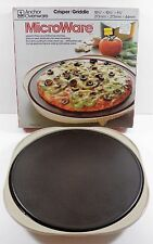"""ANCHOR HOCKING MICROWAVE OVENWARE MICROWARE 10-3/4"""" CRISPER GRIDDLE PM400 145"""