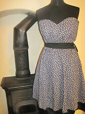 1950s style prom puff ball DRESS 10 NEW flower GOTH fairy Sharei Lamar