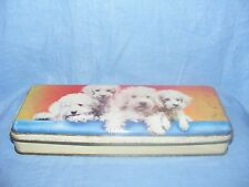 Vintage Old Advertising Tin Thornes Leeds Toffee Dogs Tin Hinged