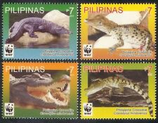 Philippines 2011 WWF/Crocodiles/Reptiles/Animals/Nature/Wildlife 4v set (n39697)