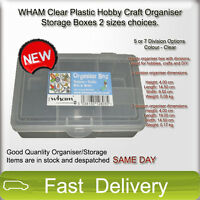 WHAM Clear Plastic Hobby Craft Organiser Storage Boxes 2 sizes available