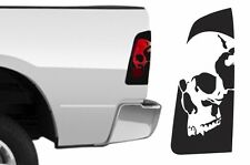 Dodge Ram 1500 2009-2014 Custom Brakelight Vinyl Decal Kit SKULL - Matte Black