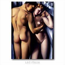 Tamara de Lempicka Adamo ed Eva QUADRO INTELAIAT0 50x70 ARTE STAMPA TELA ARREDO