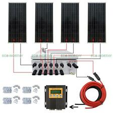 400W Off Grid Solar Panel System 100W with MPPT & Solar Power Combiner & Bracket