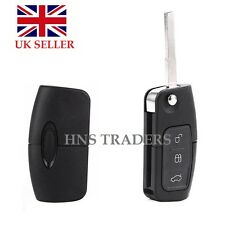 3 BUTTON UNCUT FLIP REMOTE KEY FOB For FORD MONDEO/FOCUS/CMAX/GALAXY NEW + LOGO