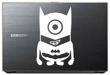 Minion in Batman suit sticker for all laptops. White decal