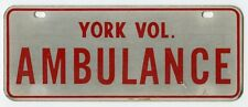 1970s York, Maine Volunteer Fire Department Ambulance Vehicle Tag