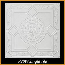R30 lot of 24pcs White Styrofoam Glue Up Ceiling Tiles !!!!!