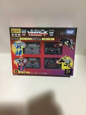 Takara Transformers Encore 15 CASSETTES RAVAGE BUZZSAW EJECT REWIND MISB Sealed