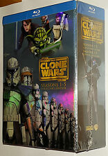 Star Wars - Clone Wars Seasons 1,2,3,4,5 Collectors Box Set Blu-ray NEW & SEALED