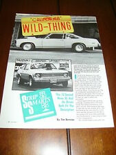 1977 CHEVROLET NOVA SS  ***ORIGINAL 1990 ARTICLE***