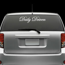 Daily Driven Windshield Sticker Die Cut Decal Self Adhesive Vinyl Large jdm