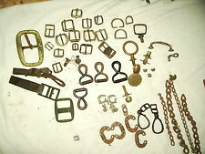 Antique Bridle and Harness Parts Brass and Nickel For Tack Repair