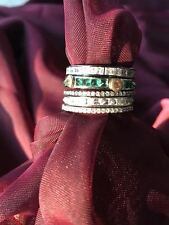 Stackable Spinning Multi Stone Artisan Sterling Silver Ring