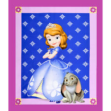 "Disney Sofia The First Panel 100% cotton 44"" wide fabric Fabric by the panel"