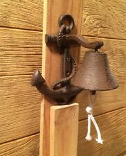 Boat Anchor Cast Iron Wall Mount Anchor Bell Nautical Decor 0184S-04002