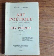 ART POETIQUE par R. Lafagette suivi de poèmes de Tagore