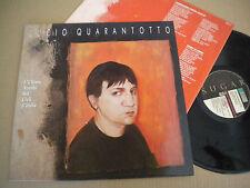 LUCIO QUARANTOTTO L'ULTIMA NUVOLA SUI CIELI D'ITALIA 1990 SUGAR LP