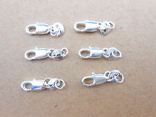 10PCS DIY Jewelry Findings 925 Sterling Silver Lobster Clasps 925 Stamped Tag
