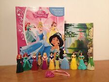 Nouveau Disney Princess My Busy Book + 11 personnage figurines, bracelet & Playmat