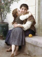 WILLIAM ADOLPHE BOUGUEREAU A LITTLE COAXING 1890 OLD ART PAINTING PRINT 3103OMA