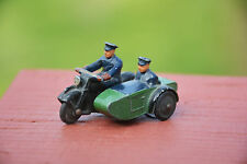 Vintage 1946 Dinky Toys Meccano Ltd. #42b Police Motor Cycle Sidecar Patrol Orig