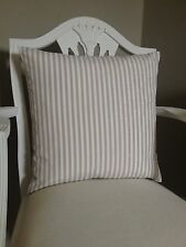 Beige Stripe Fabric Shabby Chic French Vintage Style Cushion Cover