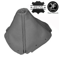 GREY LEATHER BLACK STITCHING MANUAL GEAR STICK GAITER FOR MAZDA MX5 MK1 89-97