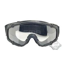 FMA Black Outdoor Paintball Airsoft Protective Glasses Anti Fog Ballistic Goggle