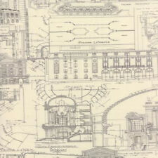 Moda 3 Sisters Passport Etchings Architecture Drawings Fabric Charcoal 4060-15