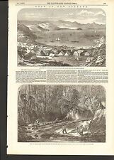 1853 GOLD IN NEW ZEALAND COROMANDEL HARBOUR KAPANGA STREAM