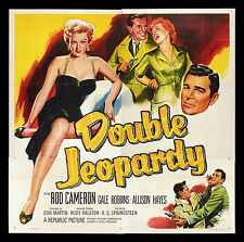 DOUBLE JEOPARDY * CineMasterpieces HUGE HOLLYWOOD 6SH ORIGINAL MOVIE POSTER 1955