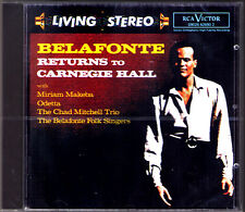 BELAFONTE Returns to Carnegie Hall Odetta Miriam Makeba RCA Living Stereo CD NEU