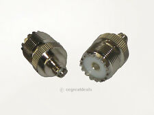 New UHF-Female SO239 to SMA Female Plug RF Antenna Connector Adapter Length 1""