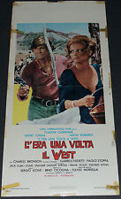 Sergio Leone's ONCE UPON A TIME IN THE WEST 1968 ORIG 13x28 ITALIAN MOVIE POSTER