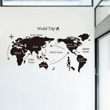 Home Decor Map Of The World Wall Decals Stickers Quote Vinyl Wall Art Mural DIY
