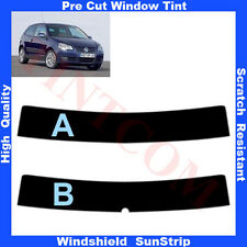 Pre Cut Window Tint Sunstrip for VW Polo 3 Doors Hatchback 2005-2009 Any Shade