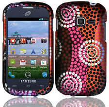 Samsung Galaxy Centura S738C Rubberized HARD Case Phone Cover Ethnic Wave