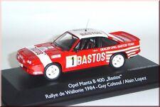 """Opel Manta B 400 """" BASTOS """" Rallye de Wallonie 1984 #1 Colsoul Schuco 1:43 LE"""