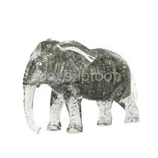 Creative IQ Crystal Block Child Puzzle Jigsaw Toy 3D Elephant DIY Model Gray