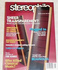 Stereophile Vol. 20 #5 May 1997 Martin-Logan Linn Krell Immedia Sonic Frontiers