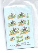 Decalque decals panach sponsor pour voiture sport  logo 1/43 T17