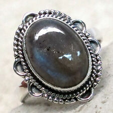 SPECIAL SALE BIN $14.99 NATURAL LABRADORITE 925 STERLING SILVER RING SIZE 8